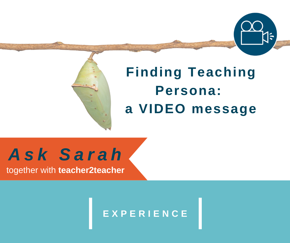 Finding Teaching Persona: a VIDEO message