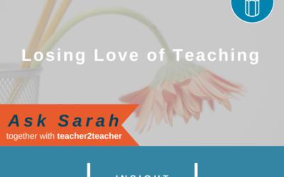 Losing Love of Teaching