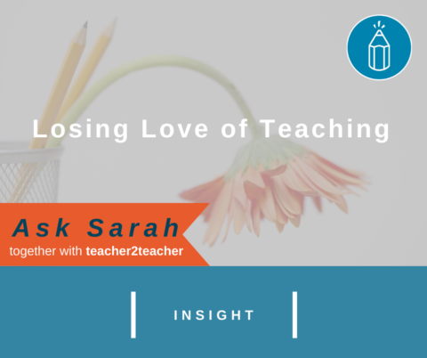 Losing Love of Teaching