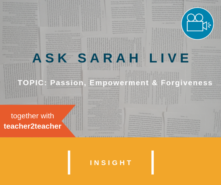 Ask Sarah LIVE: Passion, Empowerment and Forgiveness