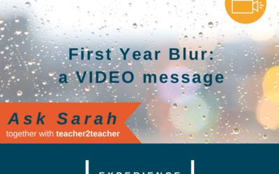 First Year Blur: a VIDEO message