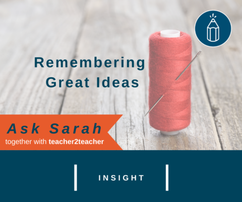 Remembering Great Ideas