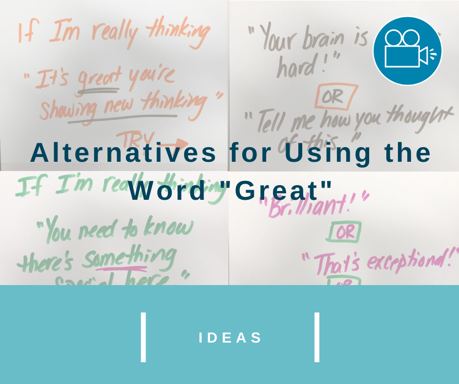 "Alternatives to Using the Word ""Great"""