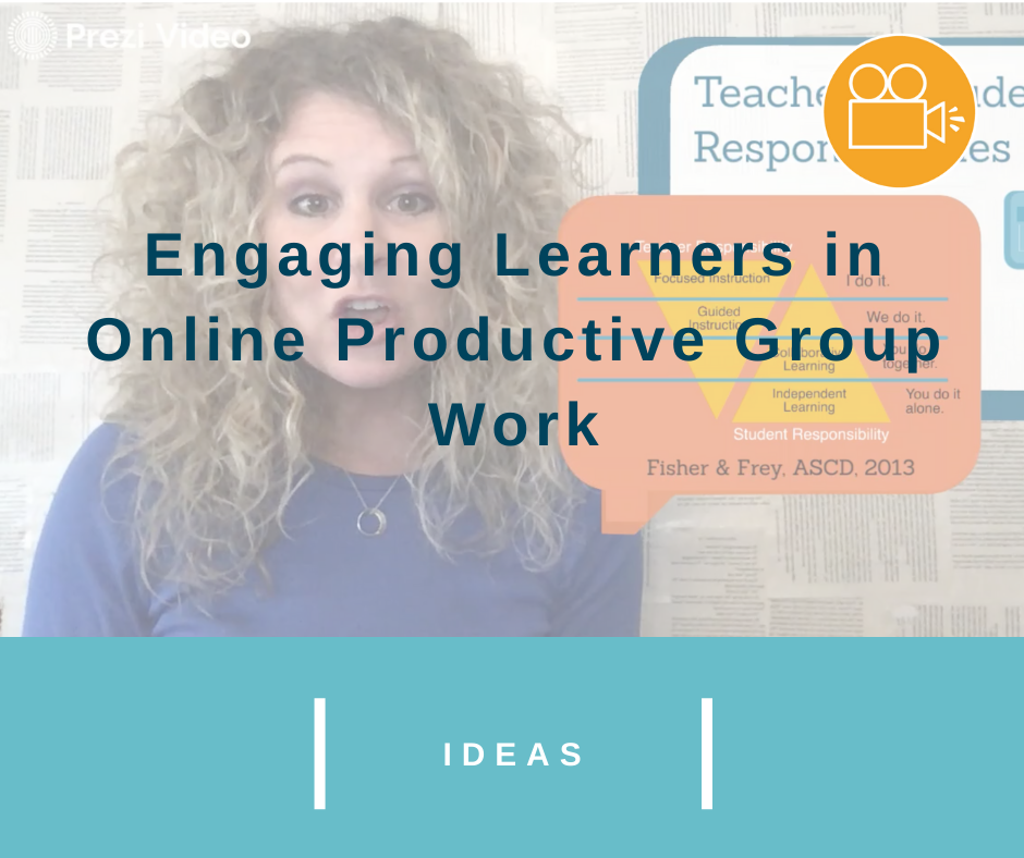 Engaging Learners in Online Productive Group Work